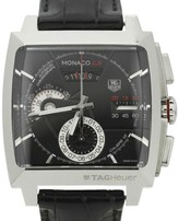 Tag Heuer Monaco CA2110 LS Caliber 12 Stainless Steel Automatic Chronograph 41mm Mens Watch