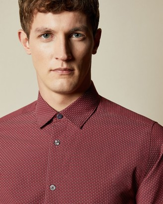 Ted Baker Fil Coupe Cotton Shirt
