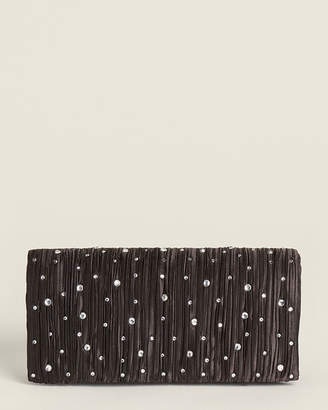 Jessica McClintock Chloe Black Scattered Crystals Clutch