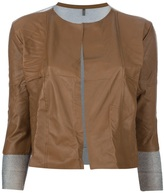 Aviu cropped leather jacket