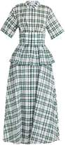 Rosie Assoulin Boogie Woogie checked-seersucker dress