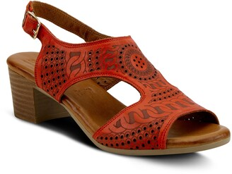 Spring Step Chains Block Heel Sandal