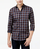 Vince Camuto Men's Coffee Navy Long-Sleeve Shirt