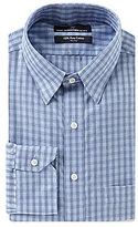 Hart Schaffner Marx Non-Iron Fitted Classic-Fit Hidden Button-Down Collar Plaid Dress Shirt