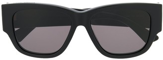 Bottega Veneta Ribbon Detail Rectangular-Frame Sunglasses