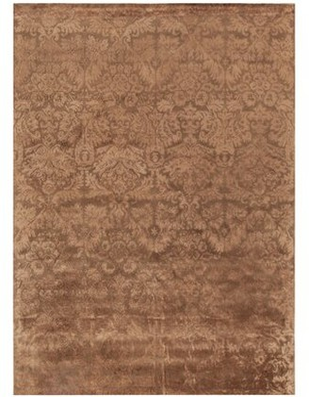 "Martha Stewart Damask Hand-Tufted Wool Mahogany Area Rug Rug Size: Rectangle 3'9"" x 5'9"""