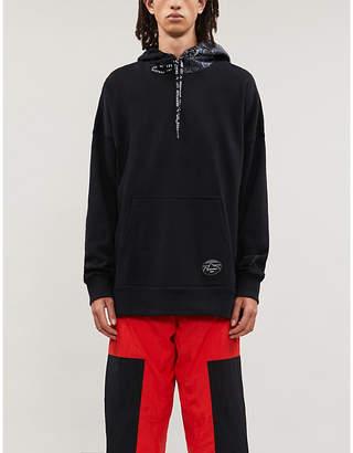 Puma Contrast-panel brand-print stretch-jersey hoody