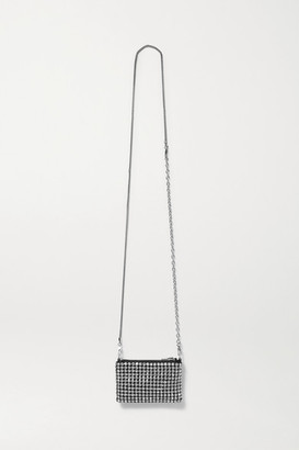 Alexander Wang Wangloc Nano Crystal-embellished Leather Shoulder Bag - Black