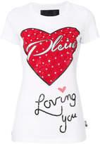 Philipp Plein embellished heart T-shirt