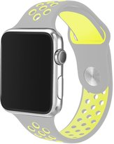 Rykimte apple watch band Soft Silicone Double color Breathable iWatch Band Sport Style Replacement Strap Wristband with Adjustable Buckle Quick Release
