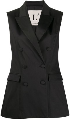 L'Autre Chose Sleeveless Double-Breasted Blazer