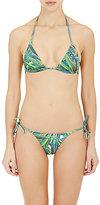 Onia Women's Megan String Bikini Top-GREEN