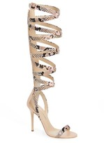 Giuseppe Zanotti Women's Giuseppe For Jennifer Lopez Emme Knee-High Gladiator Sandal