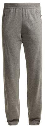 Givenchy Logo Embroidered Cashmere Track Pants - Womens - Grey
