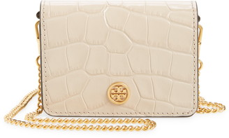 Tory Burch Nano Walker Leather Wallet on a Chain