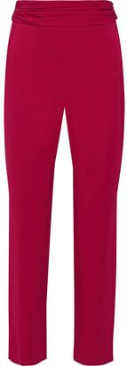 Cushnie Cropped Ruched Cady Slim-leg Pants