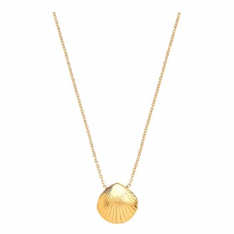 Ottoman Hands Small Gold Shell Necklace