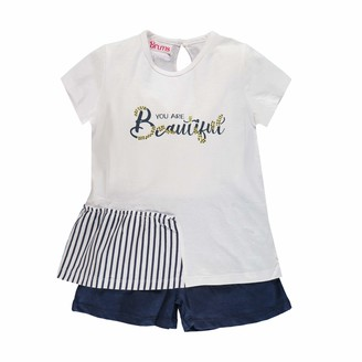 Brums Girl's Compl. 2pz. T-Shirt+Shorts Jersey Clothing Set