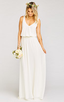 MUMU Kendall Maxi Dress ~ Wedding Cake Chiffon