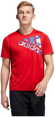 adidas Tokyo Olympics Badge of Sport Tee (Scarlet) Men's Clothing