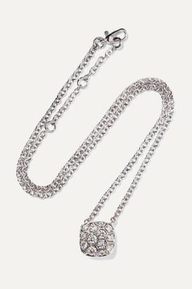 Pomellato Nudo Solitaire 18-karat White And Rose Gold Diamond Necklace - White gold