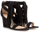 Chloé Tasselled Suede Wedge Sandals