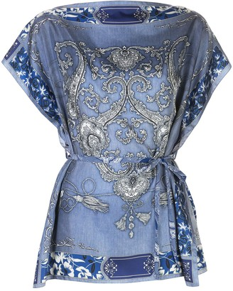 Etro Belted Tunic Top