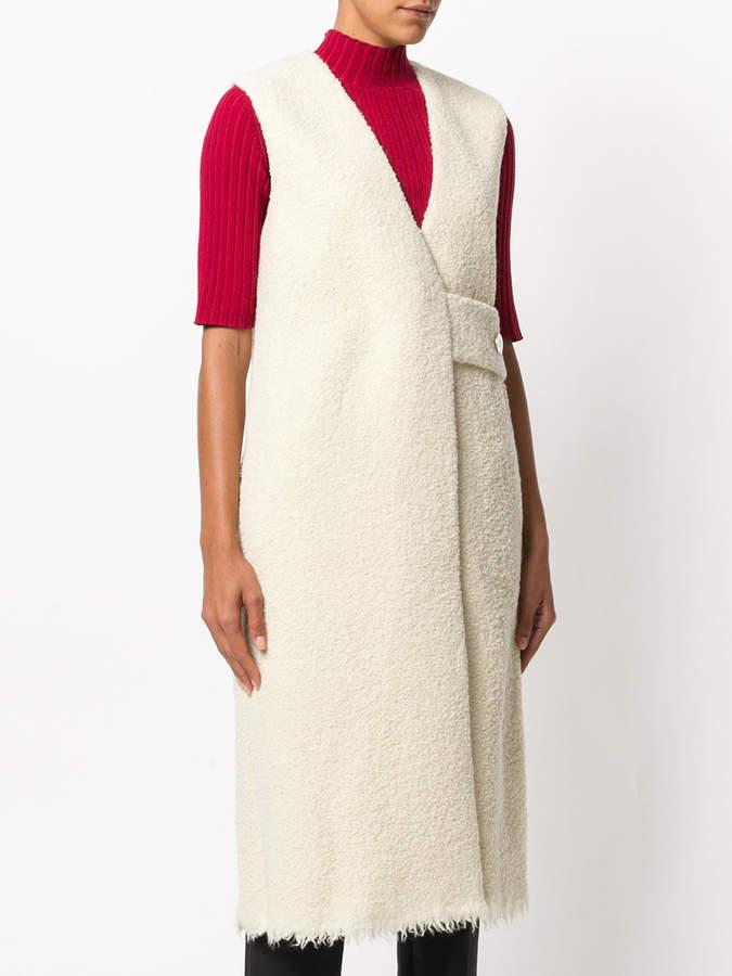 Victoria Beckham sleeveless coat