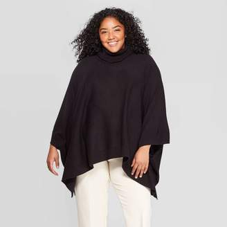 A New Day Women's Turtleneck Pullover Poncho Wrap Jacket