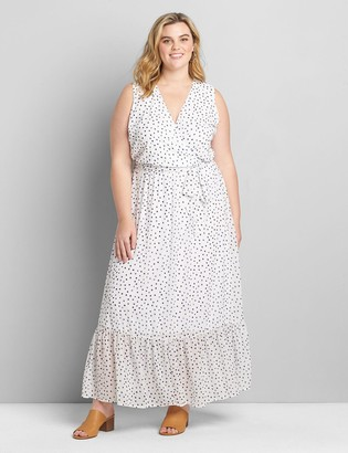Lane Bryant Crossover Belted Maxi Dress