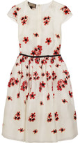 Giambattista Valli Satin-trimmed Embroidered Organza Mini Dress - White