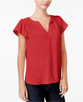 Maison Jules Flutter-Sleeve Top, Only at Macy's