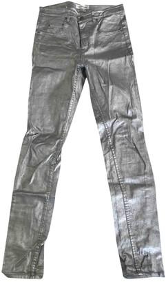 Etoile Isabel Marant Silver Cotton - elasthane Jeans