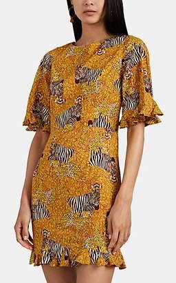 Rhode Resort Women's Hailey Serengeti-Print Minidress - Yellow
