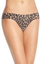 Hanky Panky Women's 'Bare - Eve' Leopard Print Low Rise Thong