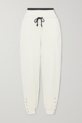 The Range Contra Cotton-blend Terry Track Pants - White