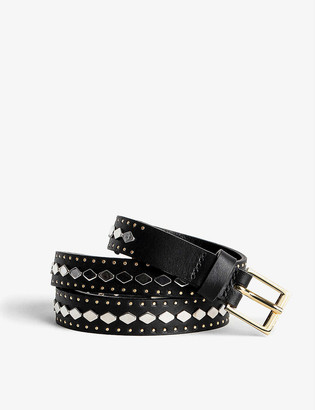 Zadig & Voltaire Camy studded leather belt