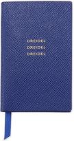 "Smythson Dreidel, Dreidel, Dreidel"" Wafer Notebook, Cobalt"