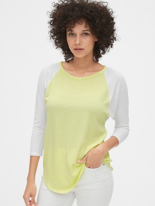 Gap Softspun Raglan Crewneck T-Shirt