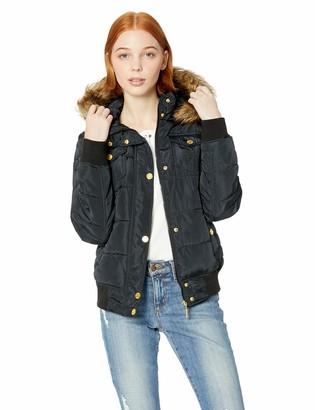 Rocawear Women's Hooded Bomber Fashion Jacket