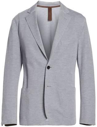 Eleventy Cotton Pique Laser-Cut Jersey Jacket
