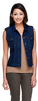 Denim & Co. As Is Button Front Stretch Denim Cropped Vest