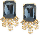 Carolee Gold-Tone Blue Crystal Stud Earrings