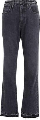 Slvrlake Denim Rider Split Hem Straight Leg Jeans