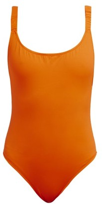 Fisch Select Ruched-strap Swimsuit - Orange