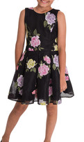 Dahlia Zoe Floral Perforated Knit Party Dress, Size 4-6X