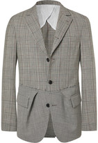 Wooster + Lardini Wooster + Lardini - Black Slim-fit Prince Of Wales Checked And Puppytooth Wool Blazer