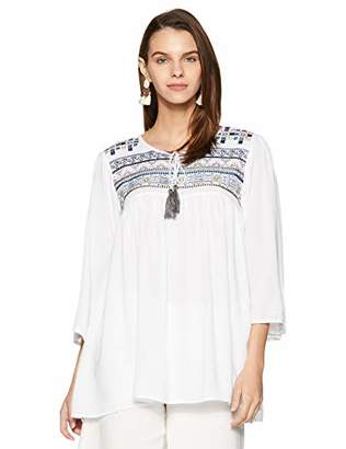 Wild Hazel Women's Viscose Embroidery Work Tops | Tunic | Blouse
