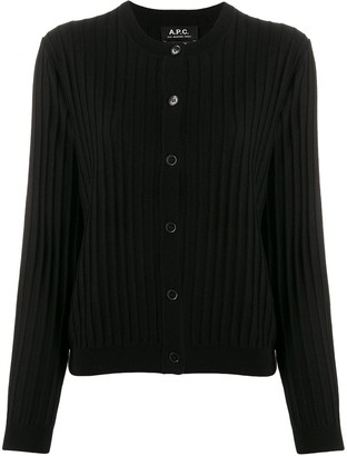A.P.C. ribbed slim-fit cardigan