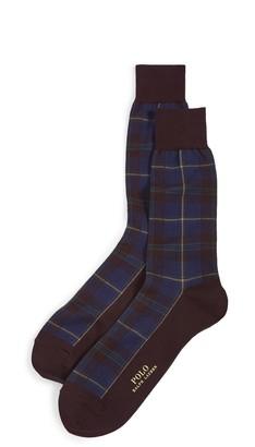 Polo Ralph Lauren Madder Plaid Slack Socks